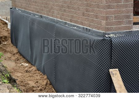 Damp Proofing. House Basement,foundation Insulation Details With Waterproofing And Damp Proof Membra