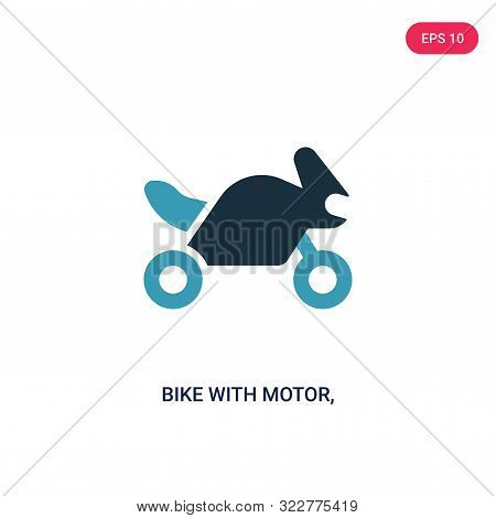 bike with motor, ios 7 interface icon in two color design style.