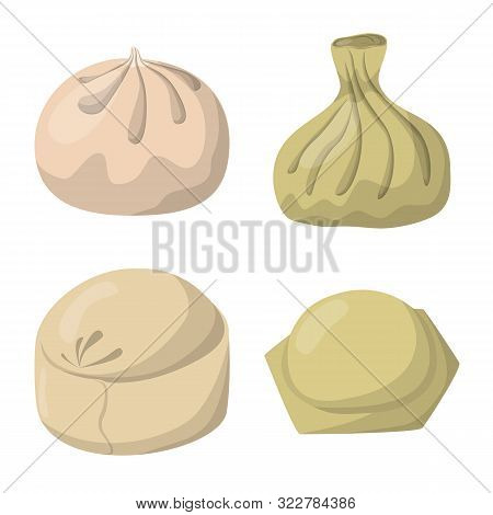 Vector Illustration Of Dumplings And Food Icon. Collection Of Dumplings And Stuffed Stock Vector Ill