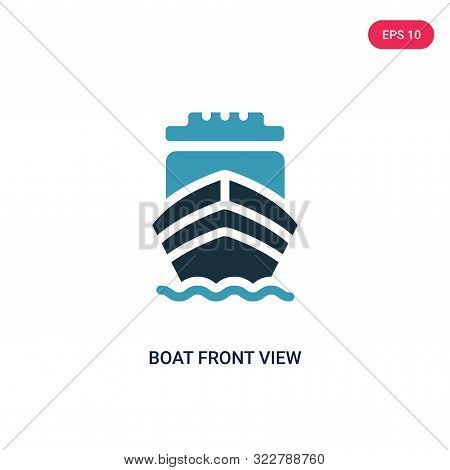 boat front view icon in two color design style.