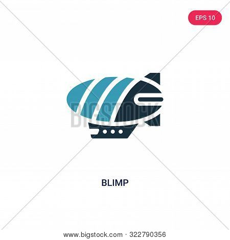 blimp icon in two color design style.