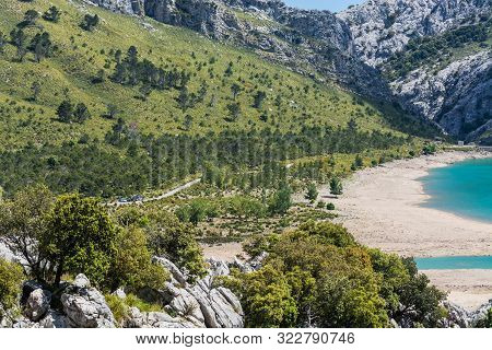 Fantastic Views Of The Embalse De Cuber In The Sierra De Tramuntana, Mallorca, Spain