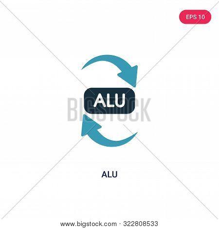 alu icon in two color design style.