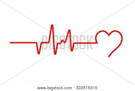 Heart Beat Pulse Flat Vector Icon For Medical Apps And Websites. Blood Pressure , Cardiogram, Health