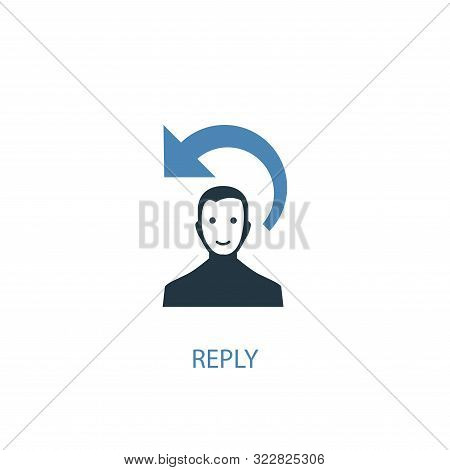 Reply Concept 2 Colored Icon. Simple Blue Element Illustration. Reply Concept Symbol Design. Can Be