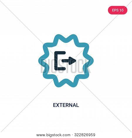 external icon in two color design style.