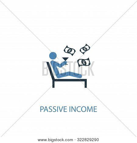 Passive Income Concept 2 Colored Icon. Simple Blue Element Illustration. Passive Income Concept Symb