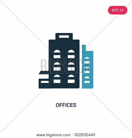 offices icon in two color design style.