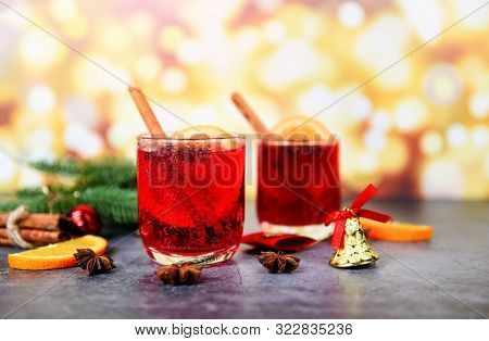 Christmas Mulled Wine Delicious Holiday Like Parties With Orange Cinnamon Star Anise Spices For Trad