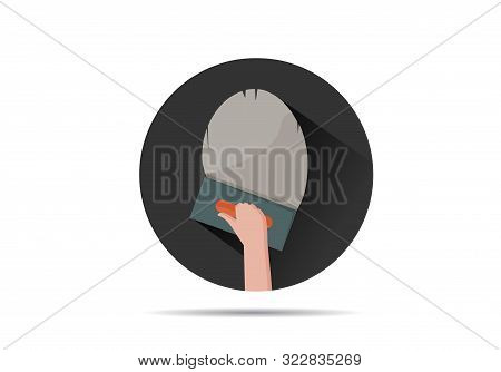 Hand Holding A Trowel Plastering Icon On Isolated Background