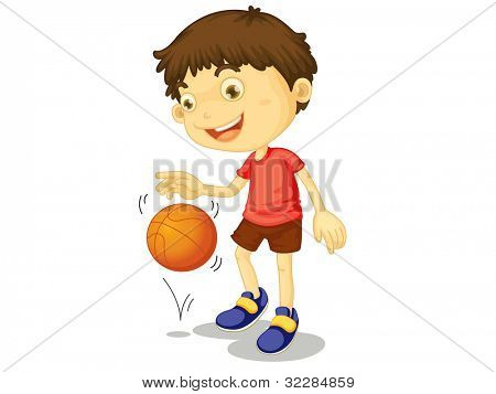 Illustration of a child playing basketball - EPS VECTOR format also available in my portfolio.
