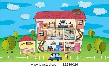 Illustration on inside a house - EPS VECTOR format also available in my portfolio.