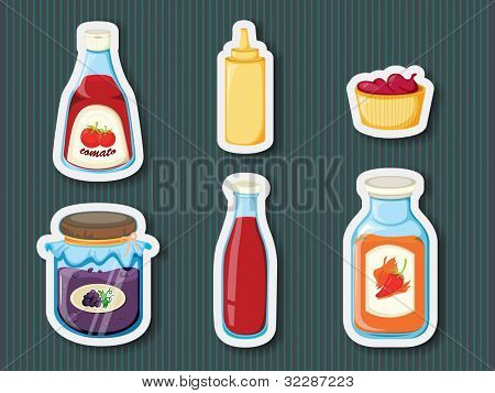 Illustration of stocker containers on background - EPS VECTOR format also available in my portfolio.