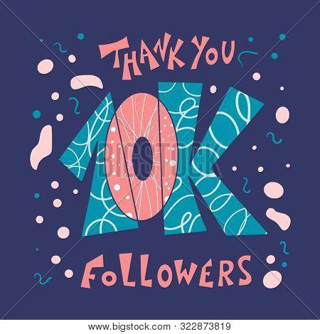 10k Folowers Social Media Post. 10000 Subscribers Post.
