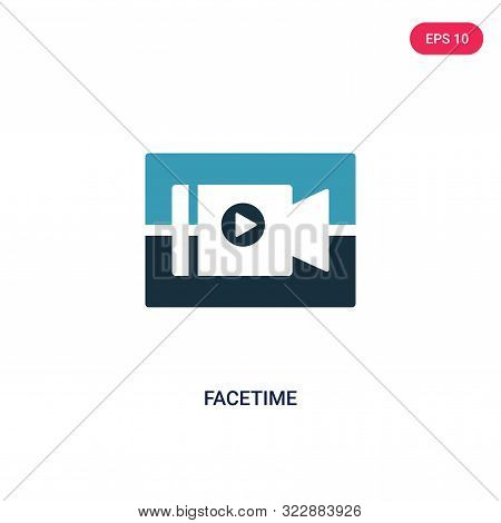 facetime icon in two color design style.