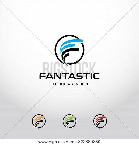 Creative F Letter Logo Template.futuristic Initial F Icon