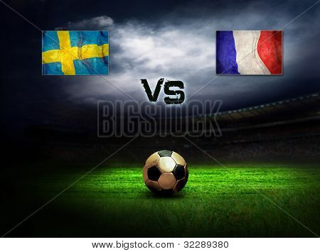 Friendly soccer match between Sweden and France