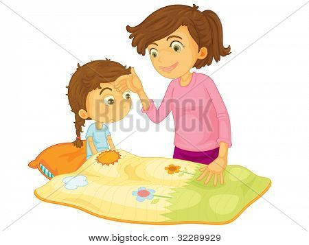Child illustration on a white background - EPS VECTOR format also available in my portfolio.
