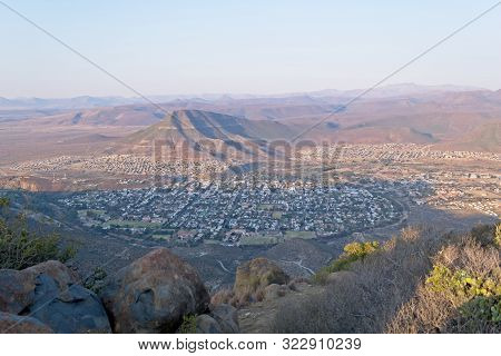 View Of Graaff-reinet From Valley Of Desolation