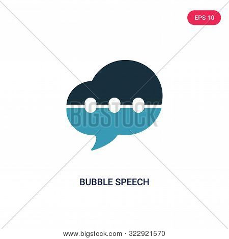 bubble speech icon in two color design style.