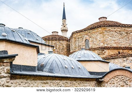 Building Of Turkish Hammam With Minaret In Prizren, Kosovo