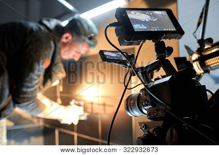 Behind The Scenes Of Filming Movies And Video Products, Setting Up Equipment For Shooting Video And