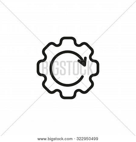 Performance Efficiency Line Icon. Gearwheel, Arrow, Management. Efficiency Concept. Vector Illustrat