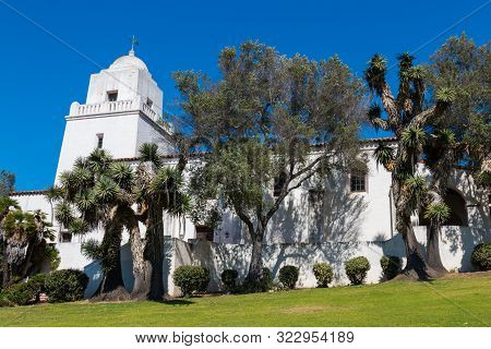 San Diego, California - April 1, 2017:  The Presidio Park, Junipero Serra Museum, The Site Of The Fi