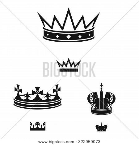 Vector Illustration Of King And Majestic Icon. Collection Of King And Gold Stock Vector Illustration