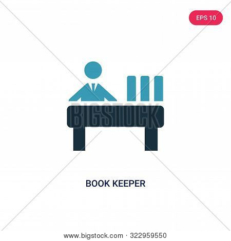 book keeper icon in two color design style.