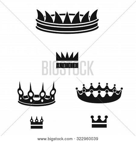 Isolated Object Of King And Majestic Logo. Collection Of King And Gold Stock Vector Illustration.