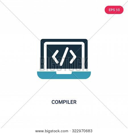 compiler icon in two color design style.