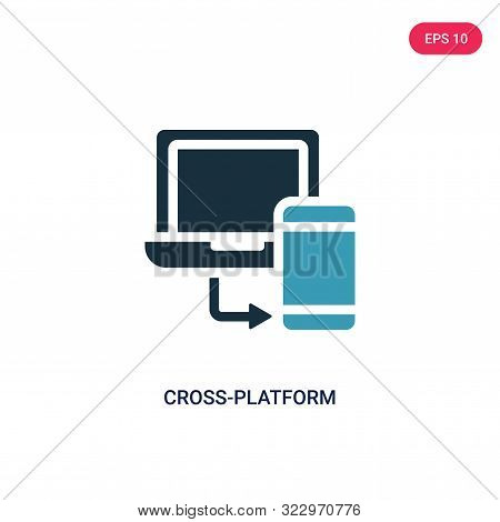 cross-platform icon in two color design style.