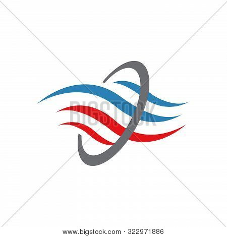 Abstract Heating And Cooling Hvac Logo Design Vector Business Company