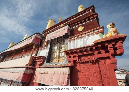 A 2019 Image Of Ramoche Temple In Lhasa, Tibet. The Monastery Dates Back To The Seventh Century And