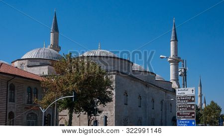 Edirne, Turkey - September 22, 2018: Eski Camii Mosque In The Center Of City Of Edirne, East Thrace,