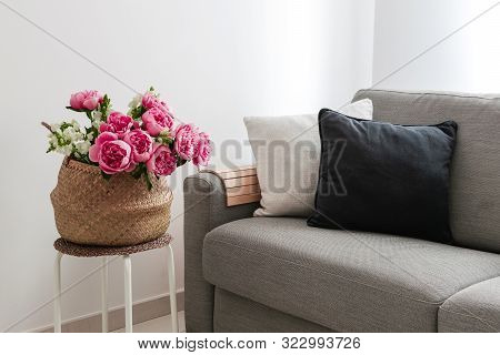 Home Interior Cozy Living Room In Scandinavian Style