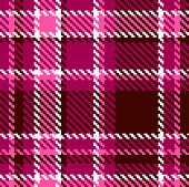 Seamless Red and Pink Checkered Vector Fabric Pattern poster