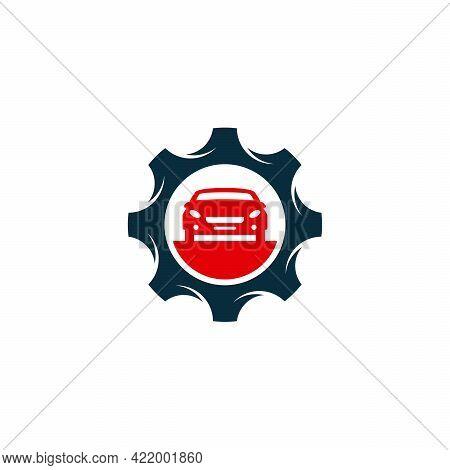 Car Service Logo Designs Concept Vector, Car And Gear Logo Template