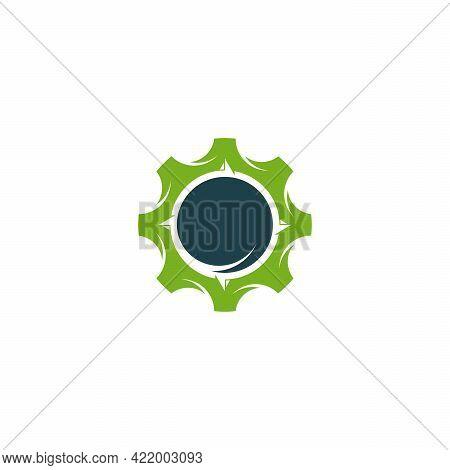 Gear Compass Logo Designs Concept Vector, Gear Direction Logo Template