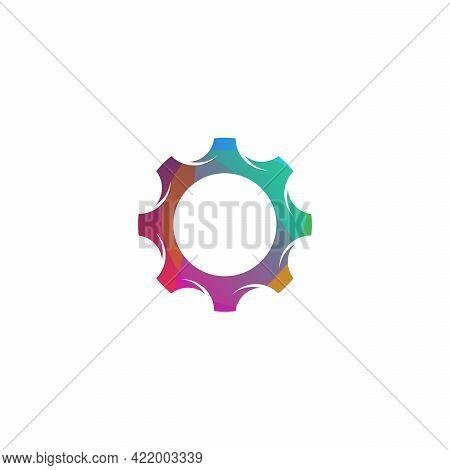 Colorful Gear Logo Designs Concept Vector, Mechanic Logo Template
