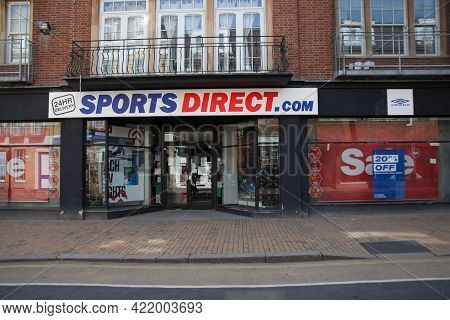The Sports Direct Store On The High Street In Maidenhead In The Uk, Taken 30th March 2021