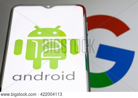 Kazan, Russia - May 29, 2021: Android Is A Mobile Operating System. The Twelfth Version Of The Andro