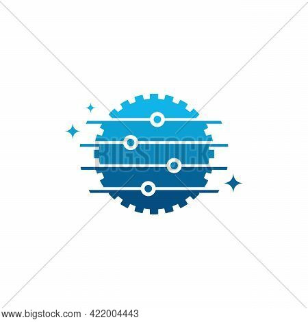Gear Tech Logo, Modern Pixel Gear Technology Logo Designs Symbol Vector Illustration