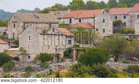 Pretty Village Selca On The Island Of Hvar In Croatia