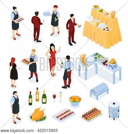 Banquet Reception Buffet Service Food Stations Appetizers Grilled Meat Hot Water Dispenser Wine Wait