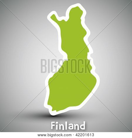 Finland map sticker