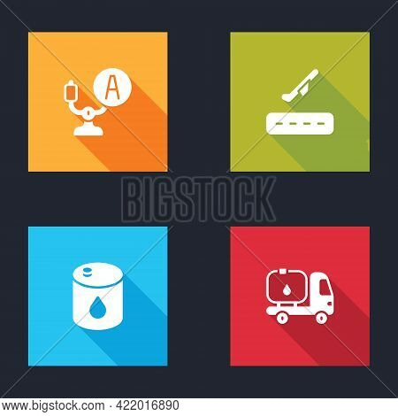 Set Aircraft Steering Helm, Plane Takeoff, Barrel Oil And Fuel Tanker Truck Icon. Vector
