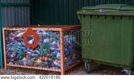 Astrakhan May 28 2021 Separate Collection Of Waste Plastic Collects Separately Concern For The World