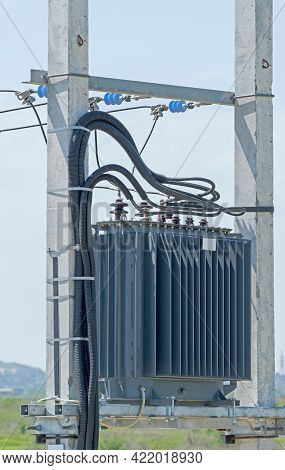 Electric Tower High Voltage And High Voltage Transformer Post